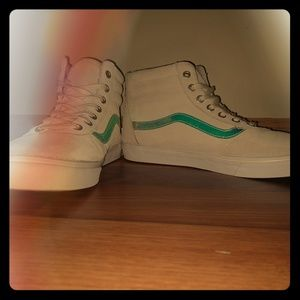 Vans Sk8-Hi Suede Sneakers With Iridescent Stripe